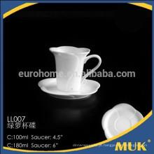 Chaozhou estoque de fábrica 200ml copo de cerâmica de café por atacado