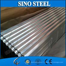 Feuille ondulée galvanisée de toiture de 0.14-0.65 * 665-914mm
