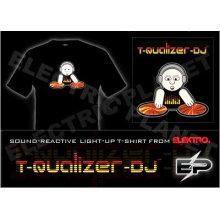 [Super Deal] Venda por atacado 2009 moda quente venda T-shirt A25, el t-shirt, camisa led