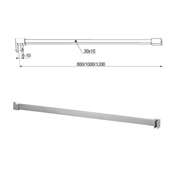 shower panel support bar
