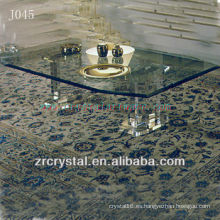 Mesa de cristal transparente K9