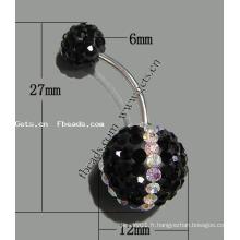 Gets.com anneau de ventre cristallisé acrylique