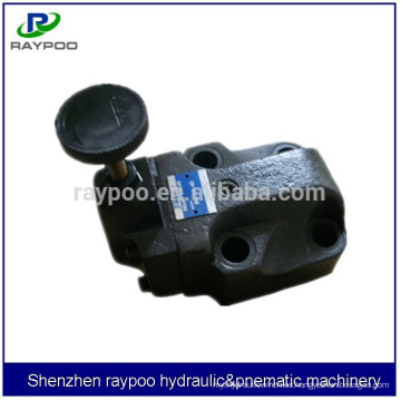 Yuken bg-06 válvula de alivio hidráulico de alta presión para máquina de moldeo por inyección hidráulica