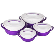 Conjunto de 4 recipientes de alimento plástico PCS