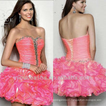 Sequin Beading Sweetheart Ball Gown Mini Short Tiered Skirt Graduation Dress Homecoming Gown