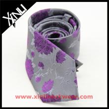 Cravate florale jacquard de soie de mariage de noeud de cou de marque privée parfaite