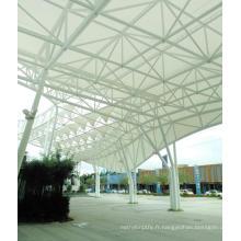 Membrane architecturale enduite en gros de toit de tissu de tension PTFE