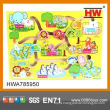 Educational wooden puzzle handheld puzzle games wood sliding puzzle