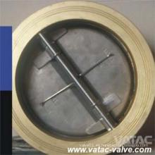 Válvula de retención de oblea de placa doble de asiento doble o metal