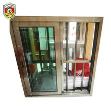 Botswana modern house decoration aluminium frame sliding window with anti-theft grill