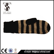 China made winter warm soft fingerless knitting gloves