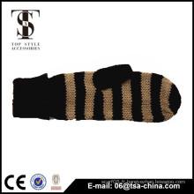 La Chine a réalisé des gants en tricot doux et sans doigts d'hiver