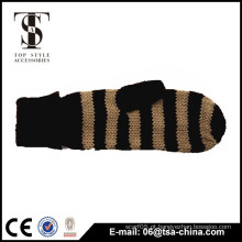 China fez inverno quentes soft fingerless tricô luvas