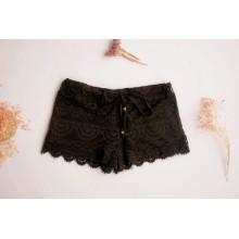 Pantalones cortos de encaje de mujer
