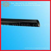 Fibra de vidro trançada exterior da fibra de vidro do silicone da borracha de silicone da fibra de vidro interna
