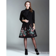 Alibaba High Quality Wholesale OEM 2017 Guangzhou Embroidered Ladies Long Coat