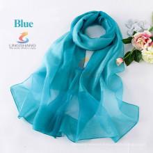 La señora 2015 de las mujeres del verano imprimió la bufanda de seda de la vendimia de la bufanda de la gasa de la gasa envuelve el mantón del pañuelo del abrigo de la bufanda