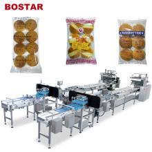 Machine à emballer de hamburger de pain de hamburger d'écoulement automatique de Bostar