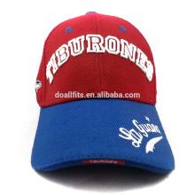 Diseñe su propia gorra de béisbol personalizada del casquillo del estilo con alta calidad para la venta al por mayor