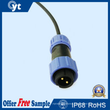 2-Pin Male LED Outdoor Lighting Waterproof Wire LED Connector
