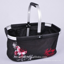 Wholesale Black Aluminum Frame Picnic Basket Beautiful Insulated Picnic Basket