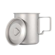 Wholesale outdoor camping drinking titanium mug