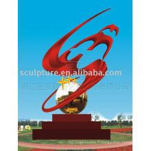 Moderne Grand résumé sculpture en acier inoxydable sculpture artistique pour décoration extérieure