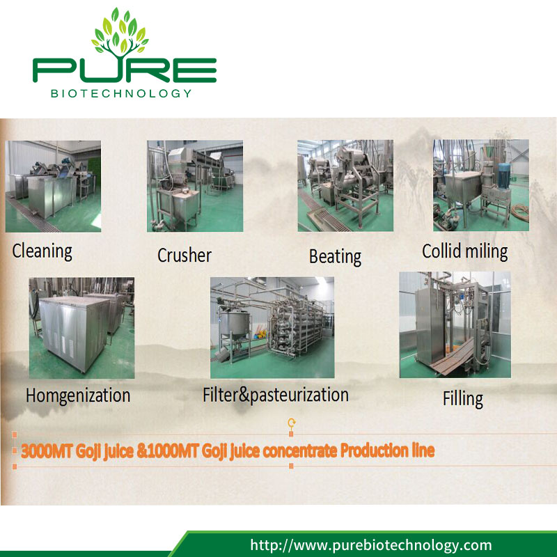 Goji Juice Production Press