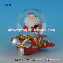 Preciosa resina de Navidad santa nieve globo