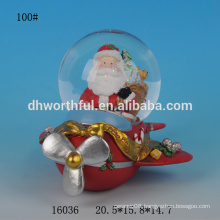 Lovely resin Christmas santa snow globe