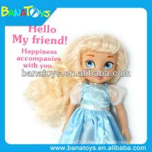 Brinquedo de boneca de 16 polegadas com bonecas princesa vestido