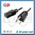 3 Prong IEC320 C13 à NEMA5-15P UL Câble de cordon d'alimentation AC standard