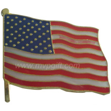 Metal Flag Badge with Customer Design