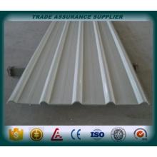 Paneles de metal corrugado chapa de acero corrugado galvanizado con acero para cubierta