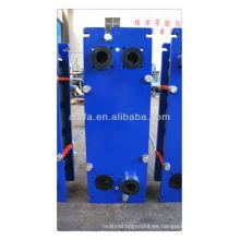 Cambiador de calor de placa de titanio para agua de mar, Marina refrigerador, precio de intercambiador de calor