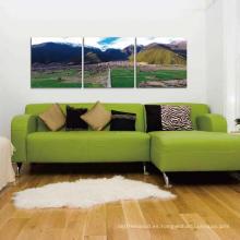 Muebles decorativos del diseño de la cama doble del arte de la pared
