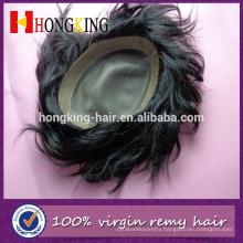 New Premium Customize Manufacturer Silk Top Human Hair Full Head Toupee