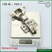 Hermosa F800-3 oculta bisagra de gabinete de 90 grados