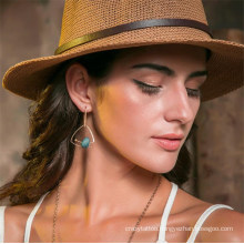 New Arrival Fashion Star Blue Natural Stone Jewelry Drop Earring Promotional Gift Earring