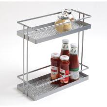 Tablette de rangement de cuisine en métal à 2 niveaux