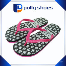 Sandálias coral branco das mulheres flop flop tamanho 9