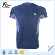Poliéster reciclado camisetas Mens Sportswear fabricantes na China