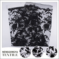 Cheap borde de la tela de moda con bordado de hojas de calado