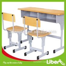 Sièges d'école de jambe mobile, Table et chaise réglables pour meubles scolaires / Mobilier scolaire pour enfants / Mobilier de classe LE.ZY.001 Assurance de la qualité