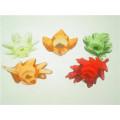 Leaf Shaped Glass Votive Candle Holder for Home Decor