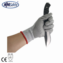 NMSAFETY New Arrival Cut resistant level 5 work gloves cutproof en388 anti-cut gloves