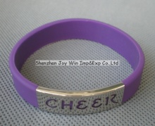 Silicone Metal Bracelet for Fashion Jewellery Accessories