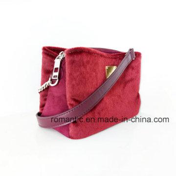 Fashion Lady Mini Plush Handbags Women Fake Suede Bag (NMDK-040702)