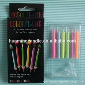 Alibaba expreso cumpleaños vela vela de color llama