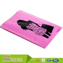 Großhandels farbige Plastikumschläge rosa Taschen schwarze Gewohnheit druckten Polybriefträger